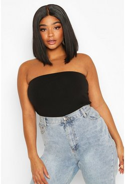 Black Plus Basic Bandeau Tube Top