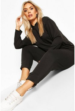 Black Plus Hoody and Jogger Set