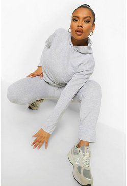 Grey Plus Hoody and Jogger Set