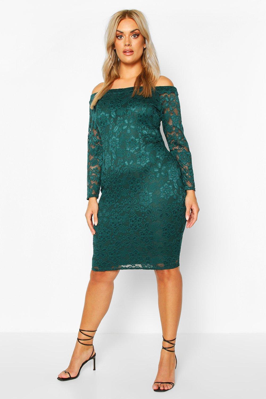 DRESSES Plus Lace Midi Dress