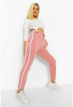 Nude Petite Side Stripe Boyfriend Joggers, Blush Розовый