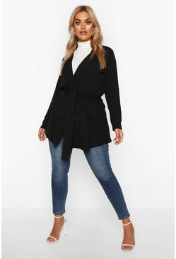 Black Plus - Blazer med knytband