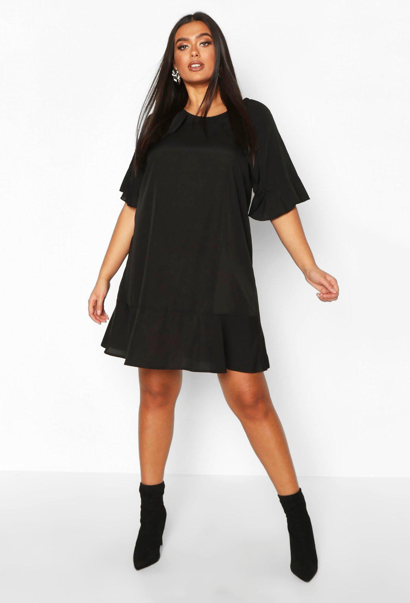 Plus Ruffle Detail Smock Dress 6