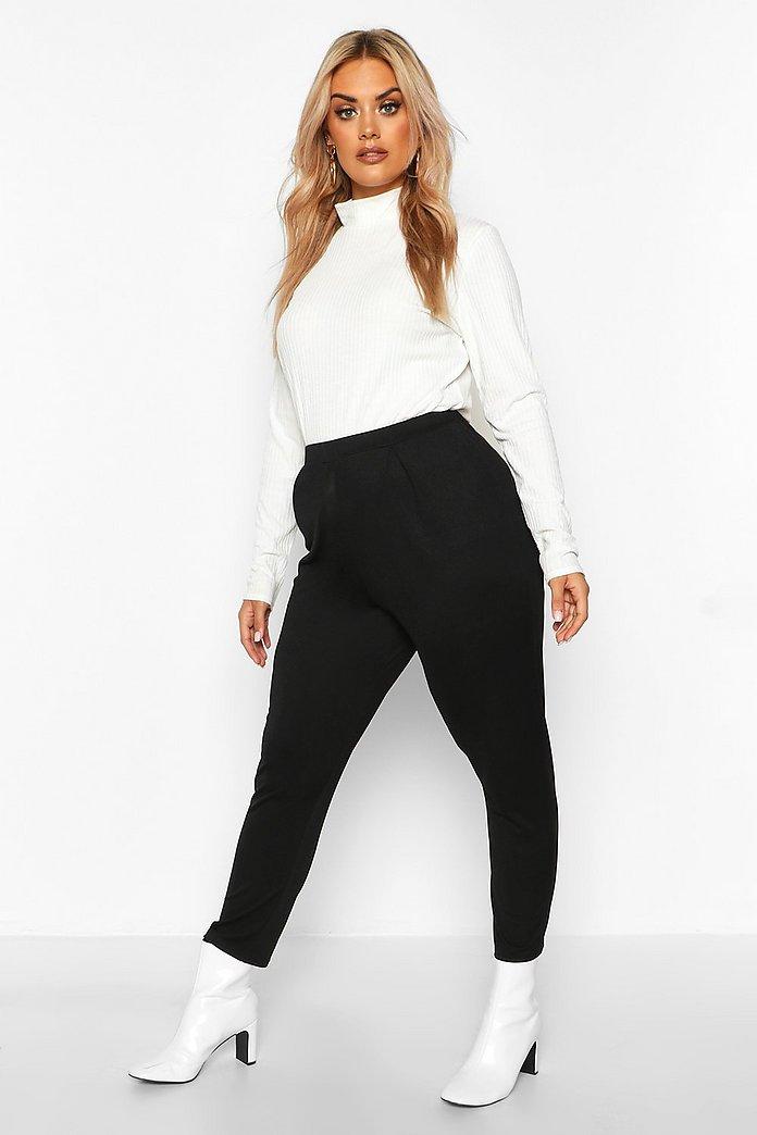 Plus Pleat Front Skinny Trousers | boohoo