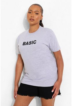 Grey Plus 'Basic' T-Shirt