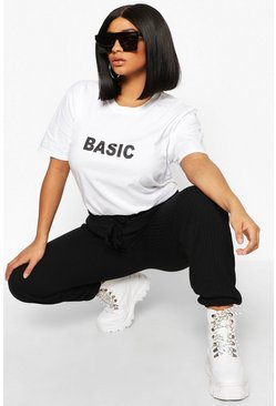 White Plus 'Basic' T-Shirt
