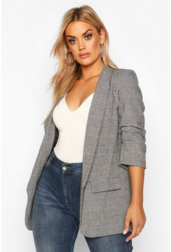 Grey Plus Dogtooth Prince Of Wales Check Blazer
