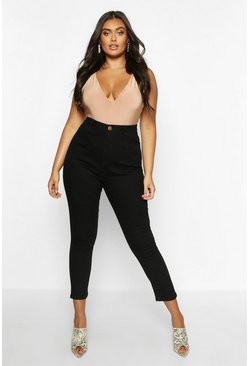 Black Plus High Waist Skinny Jean