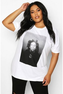White Plus Bob Marley Licenced T-Shirt