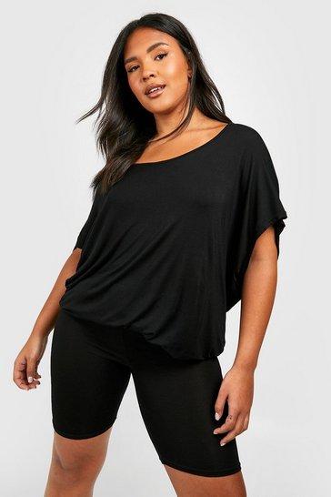 Black Plus Oversized T-Shirt