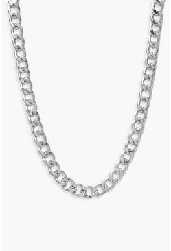 Silver Plus Simple Chain Choker