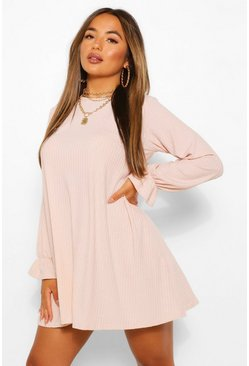 Blush Petite Soft Rib Swing Dress