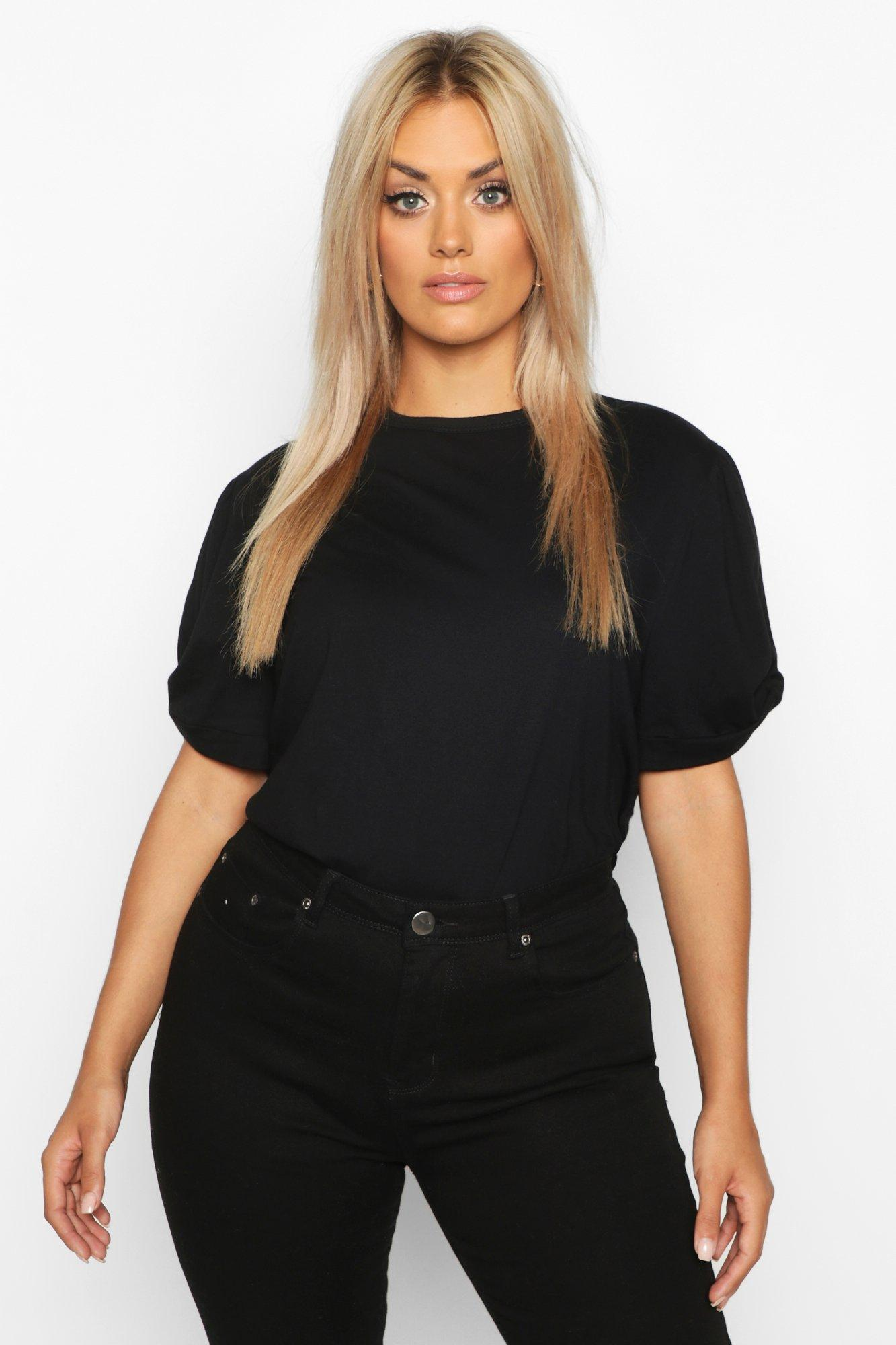 Plus Ruched Knot Puff Sleeve T-Shirt 6