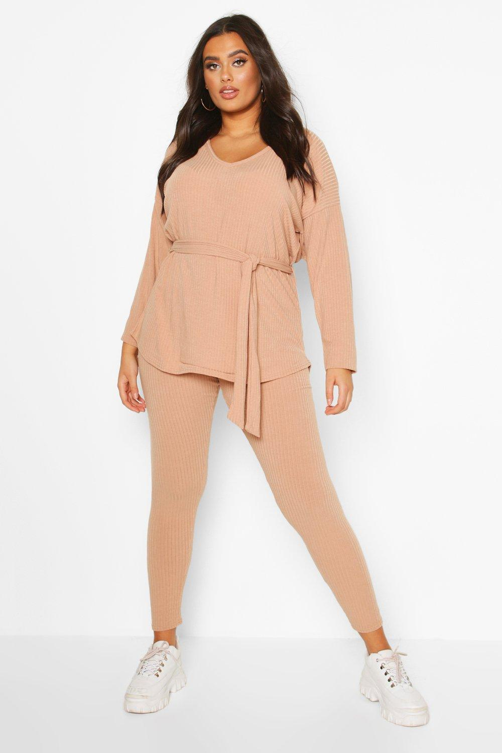 Plus Soft Rib Top & Legging Two-Piece 18