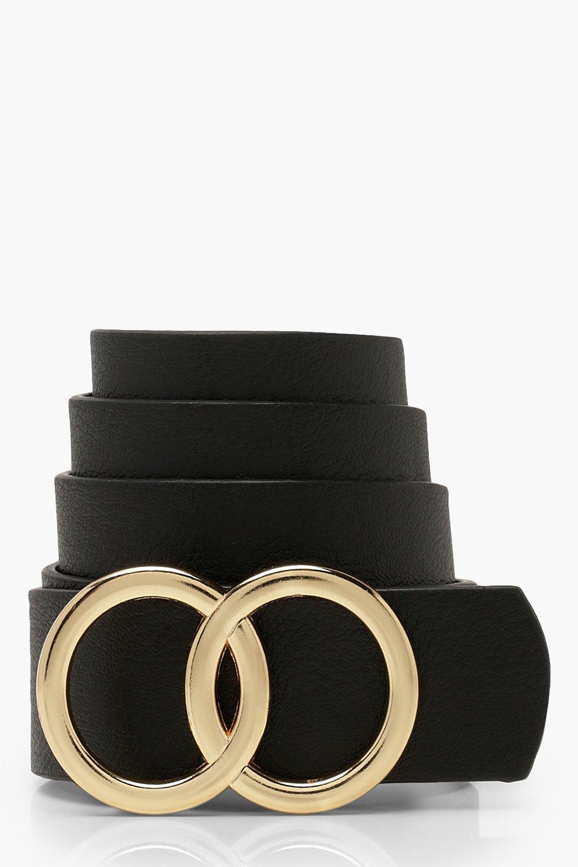 WOMENS Plus Double Ring Detail Boyfriend Belt