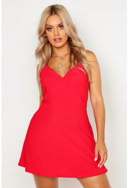 Red Plus Strappy Swing Sundress