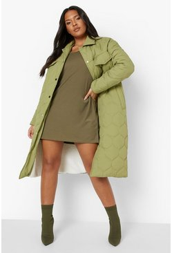 Khaki Plus Cold Shoulder Strappy Sundress