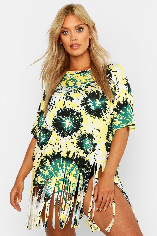 Plus Tie Dye Tassel Beach Dress 6