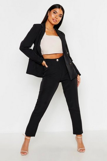 Black Petite Tailored Trousers