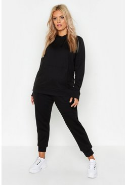 Black Plus Hoody Tracksuit