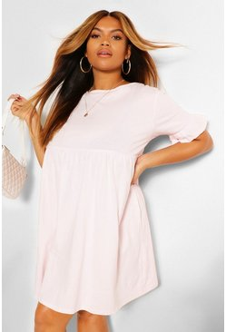 Blush Plus Ruffle Cotton Smock Dress