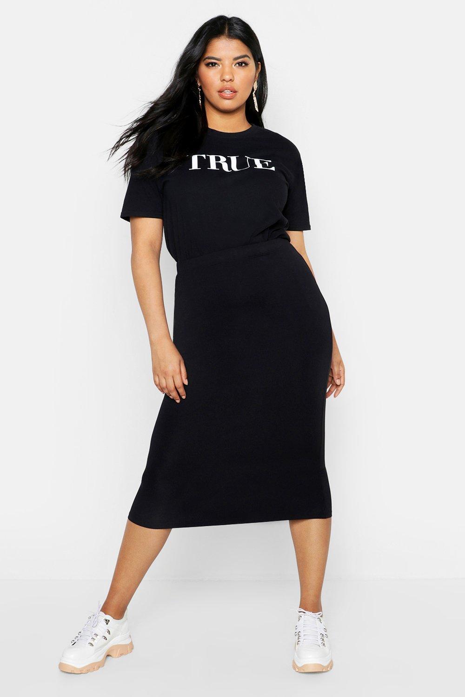 Plus Midi Tube Skirt 6