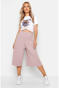 Taupe Plus Wide Leg Culottes