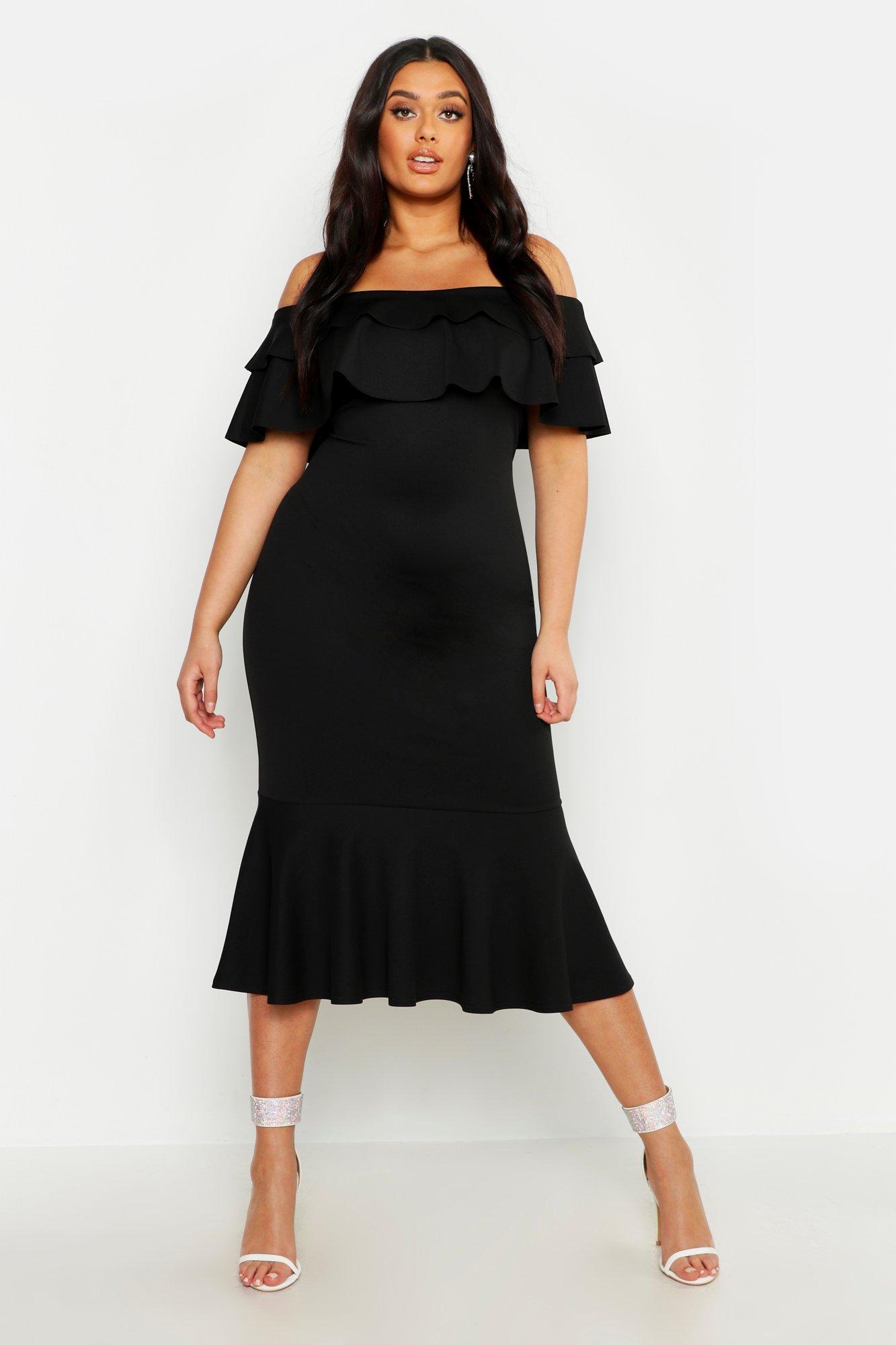 Plus Black Short Sleeve Button Detail Blazer Dress 7