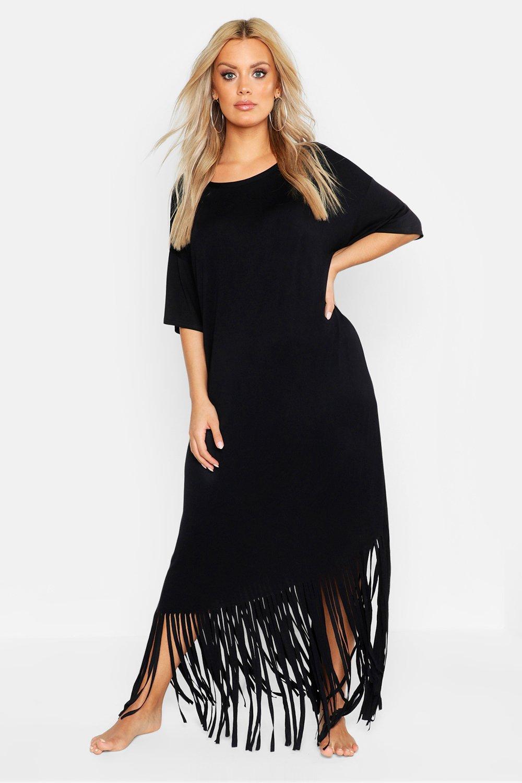 Plus Tassel Beach Maxi Dress 6