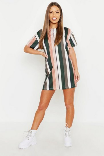 Rose Petite Tonal Short Sleeve Shift Dress
