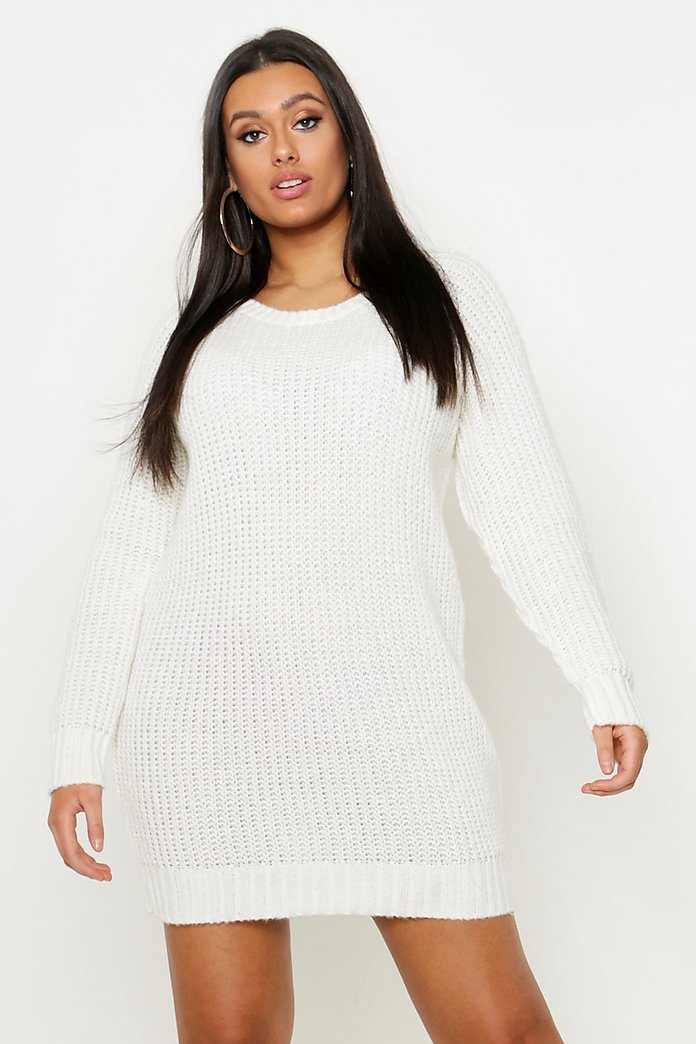Plus Soft Knit Sweater Dress   boohoo Canada