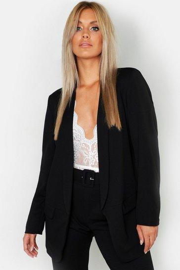 Black Plus Tailored Blazer