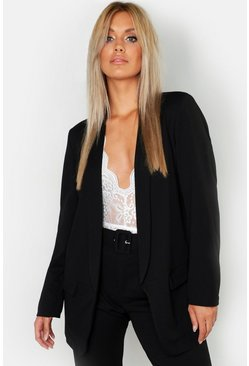 Black Plus Tailored Blazer