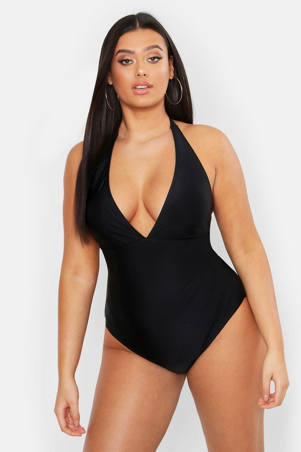 Plus Control Halterneck Swimsuit 7