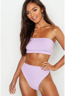 Lilac purple Petite Mix & Match Ribbed High Waist Brief