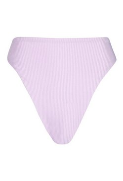 Lilac Petite Mix & Match Ribbed High Waist Brief
