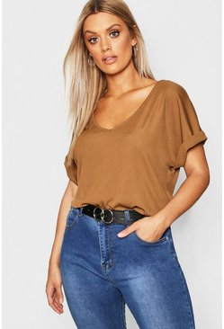 Earth Plus Basic Rib Oversized T-Shirt