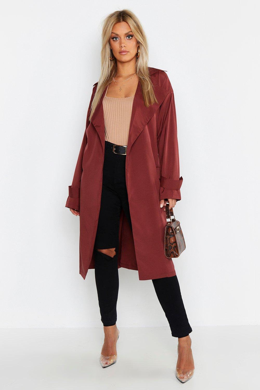 Plus Soft Trench Coat | boohoo