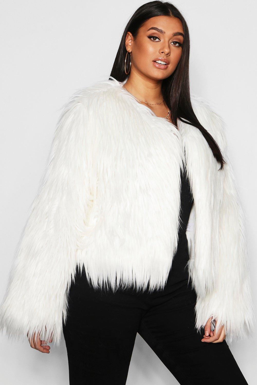 Plus Shaggy Faux Fur Jacket 15