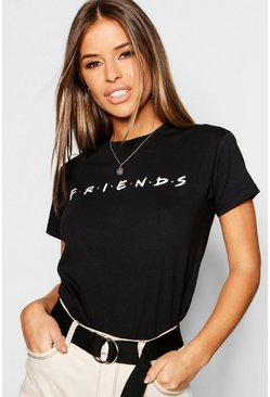 Black Petite Friends Licensed T-Shirt