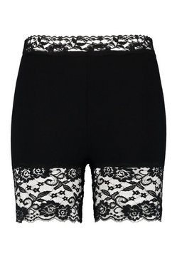 Black Plus Lace Cycling Short