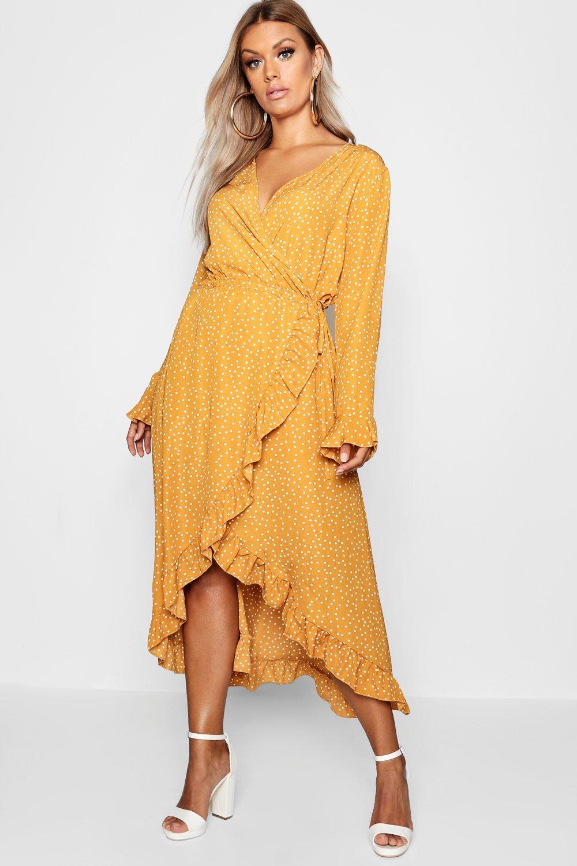 Plus Wrap Spot Midi Dress 4