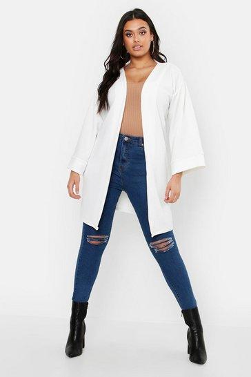 White Plus Kimono Sleeve Duster