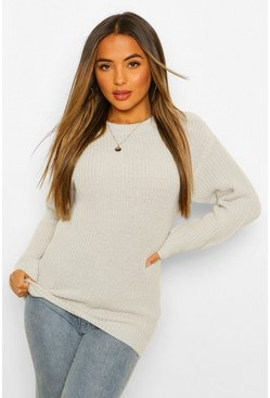 Grey marl grey Petite Ivy Oversized Sweater