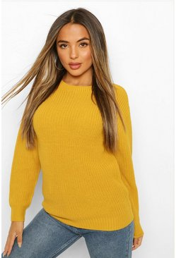 Mustard yellow Petite Ivy Oversized Sweater