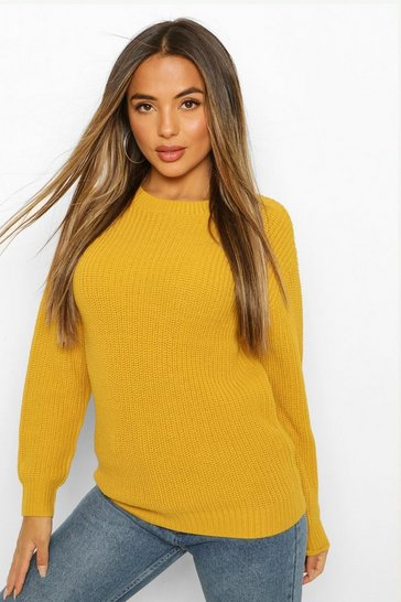 Mustard yellow Petite Ivy Oversized Jumper