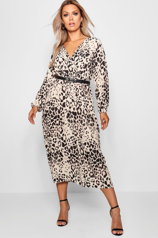 SALE Plus Leopard Midi Dress