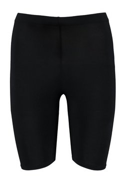 Petite Basic Solid Black Cycling Shorts