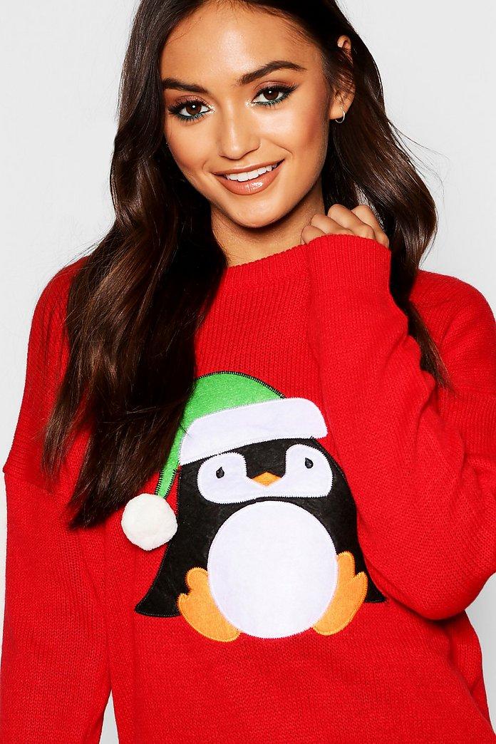 Petite Pull de Noël pingouin | boohoo