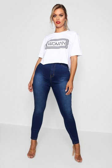 Plus High Rise True Blue Jegging